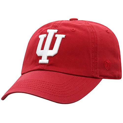 NCAA Indiana Hoosiers Adult Adjustable Hat, Crimson