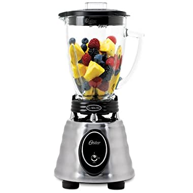 Oster BPCT02-BA0-000 6-Cup Glass Jar 2-Speed Toggle Beehive Blender, Brushed Stainless