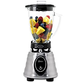 Oster BPCT02-BA0-000 6-Cup Glass Jar 2-Speed Toggle Beehive Blender, Brushed Stainless 3 1000 power watts/ 600 blending watts Crush Pro  4 Blade uses stainless steel, 4-point design to pulverize and chop with precision Oster 10 Year DURALAST All-Metal Drive Limited Warranty for lasting durability