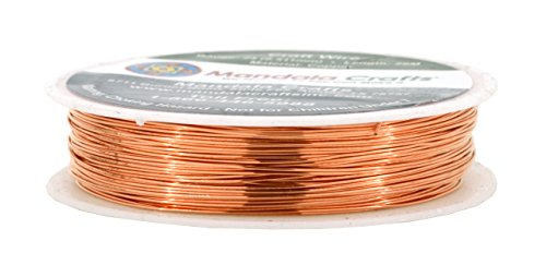- Mandala Crafts Thin Copper Wire for Jewelry Making, Sculpting, Weaving, Hobby, Gem Metal Wrap; Soft and Bendable; 1 Spool (24 Gauge 28M, Bare Copper)
