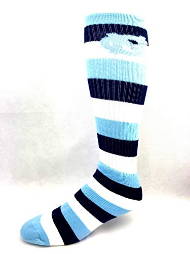 For Bare Feet North Carolina Tar Heels Rugby Stripe Tube Socks - One Size