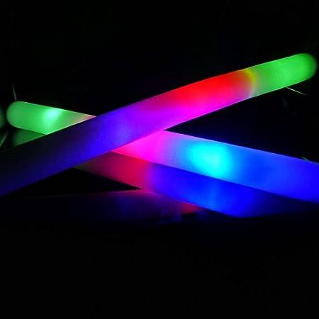 250 Palos de espuma luminosos Led fiesta concierto (Multicolor)