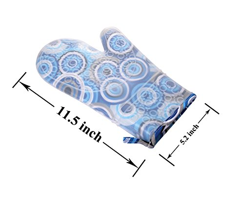 Silicone Oven Mitts Gloves for Pot Holders Heat Resistant Kitchen Mitts with Quilted Cotton Lining by WCountFair -1 Pair 2 Professional Silicone Oven Mitt:100% FDA Approved,BPA Free Silicone,commercial grade,non toxic and waterproof.11.5 inches long length to protect the forearms. Heat Resistant UP to 464° F (240 Degrees Celsius),can be also used as pot holders hot pads and toaster sleeves when cooking or grilling or to place hot pots and pans on top of. Non-Slip Kitchen Oven Mitts: Thick Cotton inner linings adds comfort and protection,easy to put on or remove.Rugged texturing of the mitts' exterior offers exceptional gripping power to enable grasping any pot or pan without slips or spills.