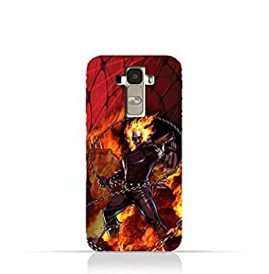 LG G4 Stylus TPU Protective Silicone Case with Ghost Rider Design