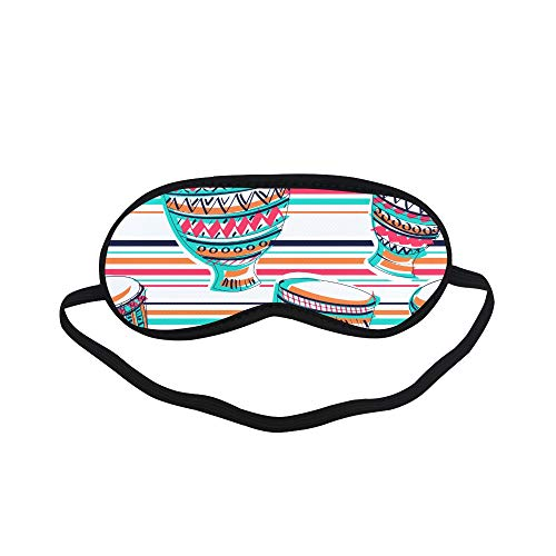 - All Polyester Drumming Instrument Band Art Popular Sleeping Eye Masks&Blindfold by Simple Health with Elastic Strap&Headband for Adult Girls Kids and for Home Travel