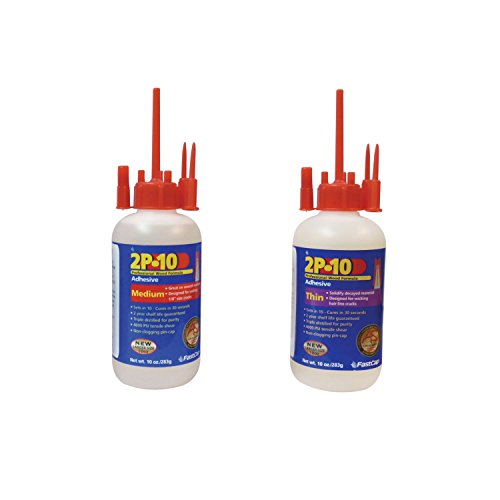 FastCap 80113 2P-10 Medium 10 oz Adhesive with 80116 Thin Super Glue Adhesive