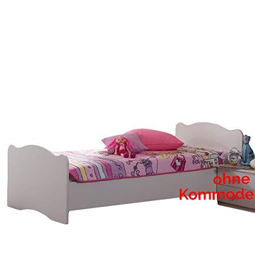 Jugendbett 90 200 Cm Weiß Made In Germany Mädchen