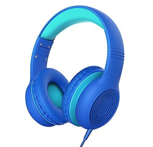 Kids Headphones with Microphone, 85/94dB Hearing Protection Children Headphone Over Ear, Wired Headset and Sharing…