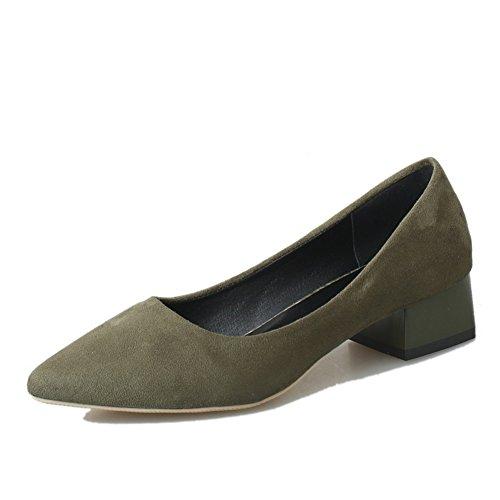 Áspera primavera moda casual zapatos de las mujeres/zapatos de gamuza puntiagudo asakuchi pie/Zapatos de mujer B