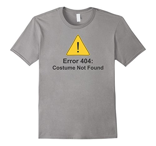 [Men's Error 404: Costume Not Found Tee Shirt XL Slate] (Costume Not Found 404)