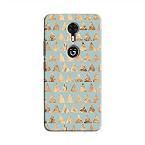 Cover It Up - Brown Cyan Triang1e Ti1e Gionee A1 Hard Case