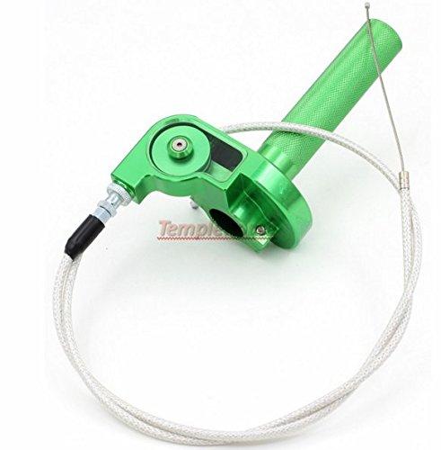 (Templehorse Universal Aluminum 7/8'' Throttle Grip Quick Twister + Throttle Cable CRF50 70 110 125 250 Dirt Pit Bike)