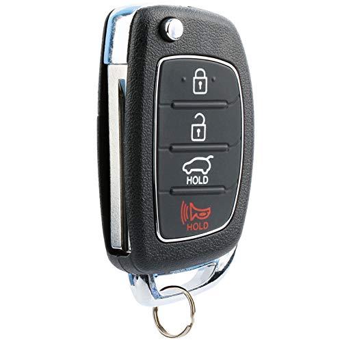 Flip Key fits 2013-2015 Hyundai Santa Fe Keyless Entry Remote Fob (95430-4Z100, TQ8-RKE-3F04)