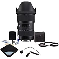 Sigma 18-35mm F/1.8 DC HSM ART Lens for Nikon SLR Cameras, with Accessory Bundle