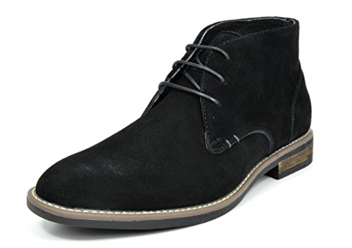 Bruno Marc Men's URBAN-01 Black Suede Leather Lace Up Oxfords Desert Boots - 9.5 M US