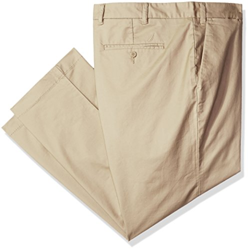 Nautica Men's Big and Tall Cotton Twill Pant, Beach Sand, (Sand Beach Pant)