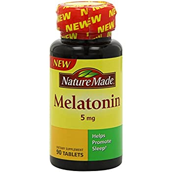 Nature Made Melatonin Tablets, 5 Mg, 90 Count (Pack of 2)
