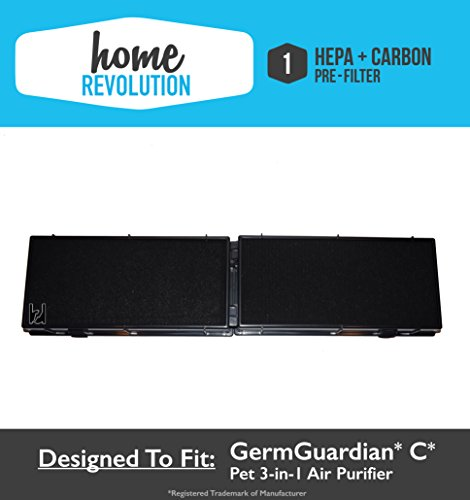 GermGuardian C FLT5250PT 5000 Series Pet 3-in-1 Air Cleaning Comparable Purifier HEPA + Carbon Pre Filter. A Quality Home Revolution Brand Replacement.