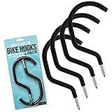Impresa Products Bike Hanger/Bike Hook (Pack of 4) - Heavy-Duty, Fits All Bike Types, Wide Opening Easy On/Off