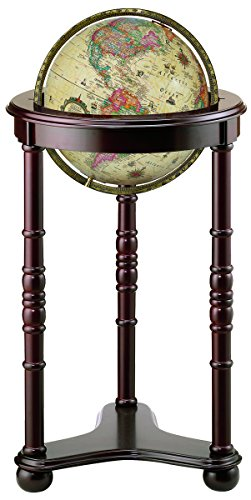 Replogle Globes Lancaster Illuminated Globe, Antique Ocean, 12-Inch Diameter by Replogle