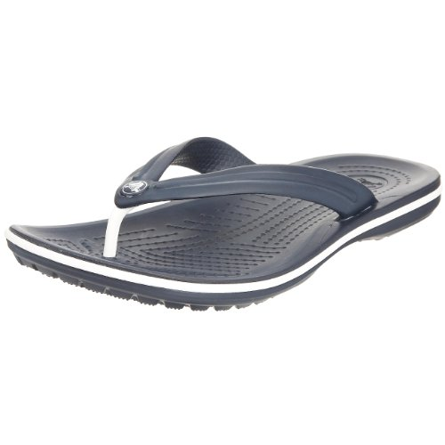 Crocs Crocband flip 11033 Unisex-Erwachsene Zehentrenner, Gr. 39/40 EU, Blau (Navy 410)