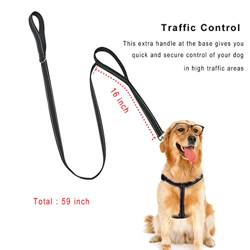 Cropal-Dog-Leash-Harness-with-a-Traffic-Handle-Super-Soft-Double-Layer-and-Adjustable-Heavy-Duty-Dog-Leash-Collar-Harness-for-Medium-and-Large-Dogs-XL