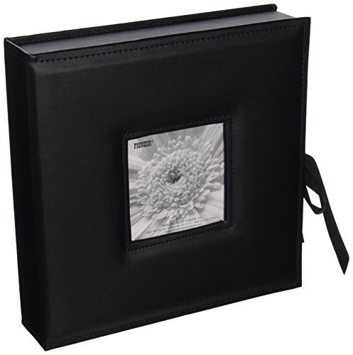 Pioneer Photo Albums 120-Pocket 3-Ring Sewn Leatherette Frame Cover Photo Box for 4 by 6-Inch/5 by 7-Inch/6 by 8-Inch Prints, ()
