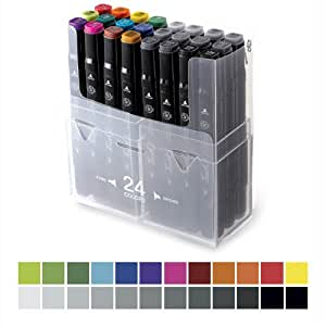 Shinhan Touch Twin Marker Set, 24 lápices