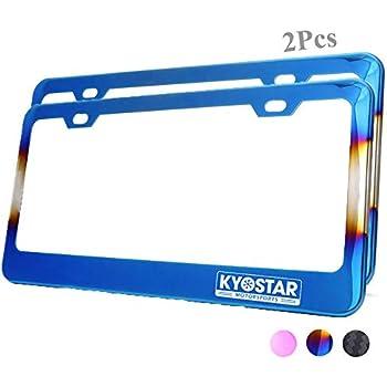 Amazon Com Kyostar Titanium Blue Rainbow License Plate