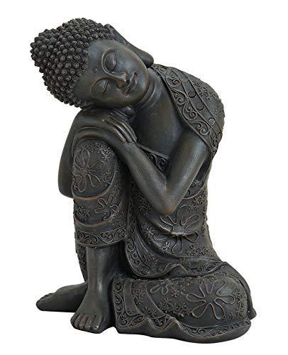 Wurm Design Genial Buda de Rodillas 18cm Marrón Aus Magnesia Figura Modelo Monje Jardín: Amazon.es: Hogar