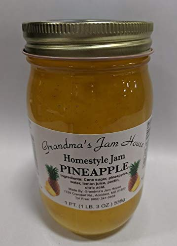 Homestyle Pineapple Jam - One Pint - Grandma's Jam House ()
