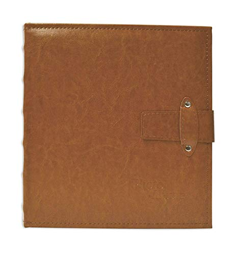 - Golden State Art, Brown Photo Album with Faux Leather Cover and Strap Closure For 200 5x7 Pictures, 2 Per Page