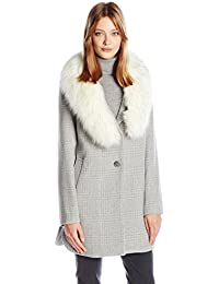 Womens Olivia Fitted Plaid Wool Coat