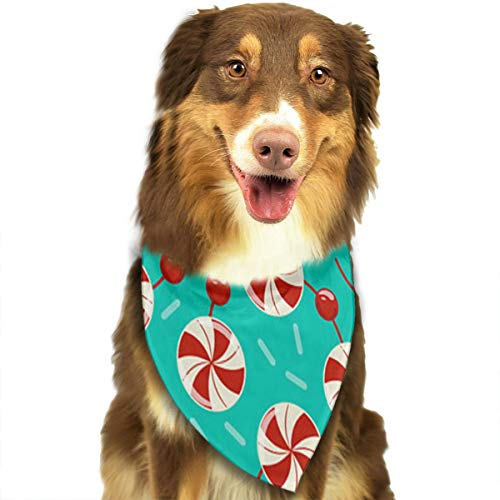OURFASHION Peppermint Candy Garland Bandana Triangle Bibs Scarfs Accessories for Pet Cats and Puppies -
