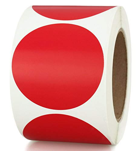 "3"" Red Color-Coding Sticker Dots 