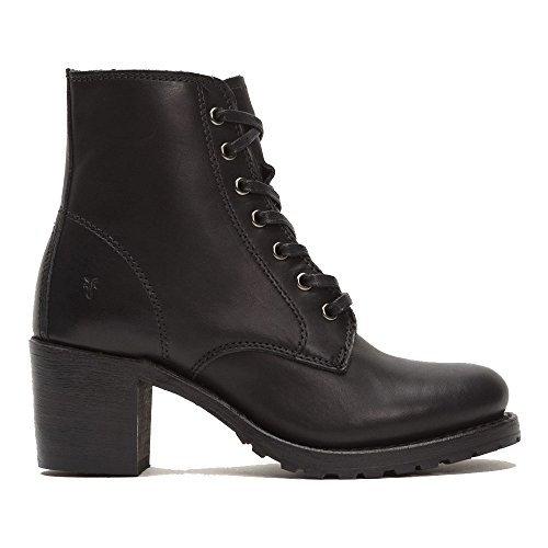 Frye Donne Sabrina 6g Lace-up Nero Di Boot