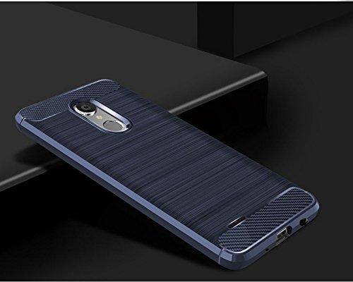 Funda LG Aristo 2,Funda Fibra de carbono Alta Calidad Anti-Rasguño y Resistente Huellas Dactilares Totalmente Protectora Caso de Cuero Cover Case Adecuado para el LG Aristo 2 C
