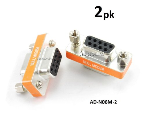 - CablesOnline DB9 Null Modem Female to Female Slimline Data Transfer Adapter/Gender Changer , (2-Pack) (AD-N06M-2)