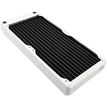 XSPC EX280 Radiator, 140mm x 2, Dual Fan, White