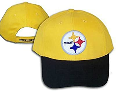 Pittsburgh Steelers Velcro Adjustable One Size Fits All 2 Tone Hat Cap - OSFA