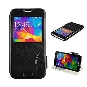 GONGXI-Funda de cuero S5-Horse Angibabe Crazy Horse de la PU para Samsung Galaxy S5/i9600