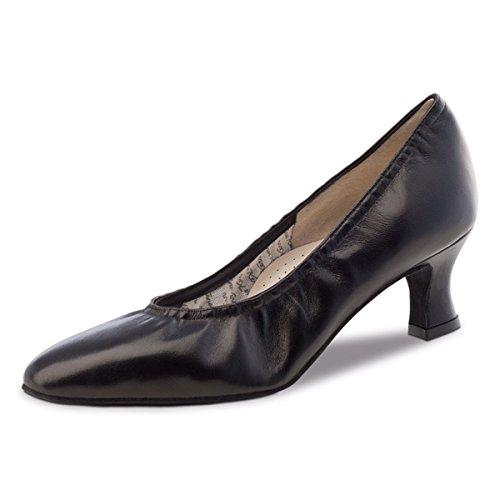 Werner Kern–Zapatos de baile para mujer Laura 5 negro (piel)