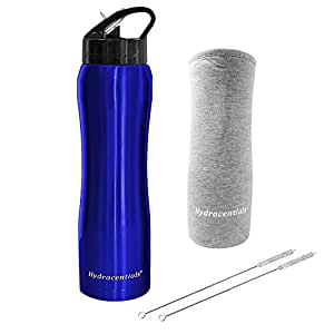 Hydracentials Hydracentials Stainless Steel Vacuum Insulated Water Bottle With Straw- 25 oz- Includes Custom Water Bottle Cover And 2 Straw Cleaners …