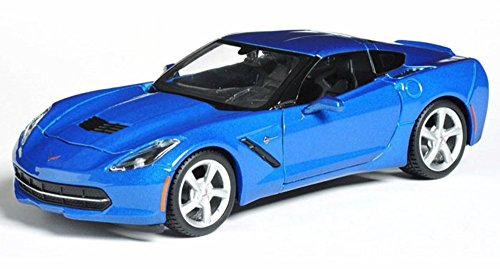 2014 Chevrolet Corvette Stingray Coupe, Blue - Maisto 31505 - 1/24 scale diecast model - Coupe Corvette 24 Scale