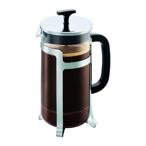 Bodum French Press System Jesper 8 Cups 1 L Cafetera émbolo, 1 Liter, vidrio, plástico, acero, Brillo