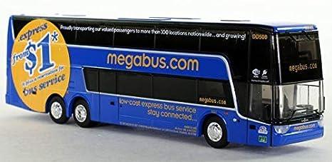 Amazon com: Iconic Replicas Megabus Double Decker Bus: 1:87