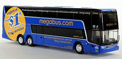 Iconic Replicas Megabus Double Decker Bus: 1:87 Scale - HO Scale Van Hool TDX
