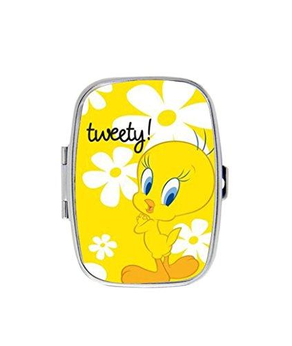 Tweety Bird Custom New Decorative Pill Case,Stylishly Convenient Stainless Steel rectangle Pill ()
