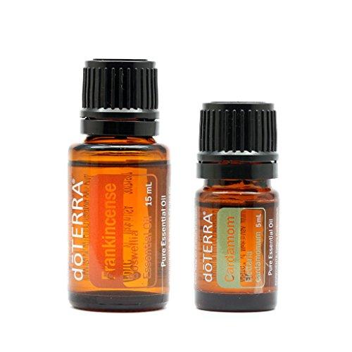 2 in 1 Set of doTERRA Brand Cardamom Essential Oil 5ml + Frankincense Essential Oil 15ml by Essential Oil