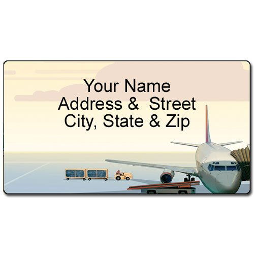 Airplane Address Label - Customized Return Address Label - 90 Labels